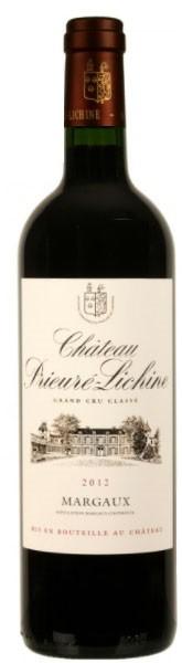 Vin Rouge Bordeaux A.O.C Margaux Chateau Prieure-Lichine 2012 75 cl.