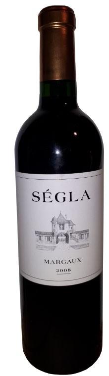 Vin Rouge Bordeaux A.O.C Margaux Chateau Segla 2008 75 cl.