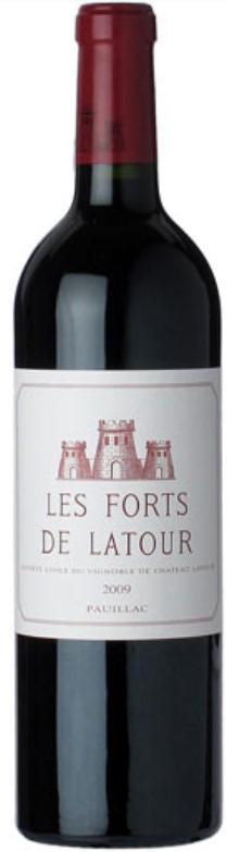 Vin Rouge Bordeaux A.O.C Pauillac Les Forts de Latour 2009 75 cl.