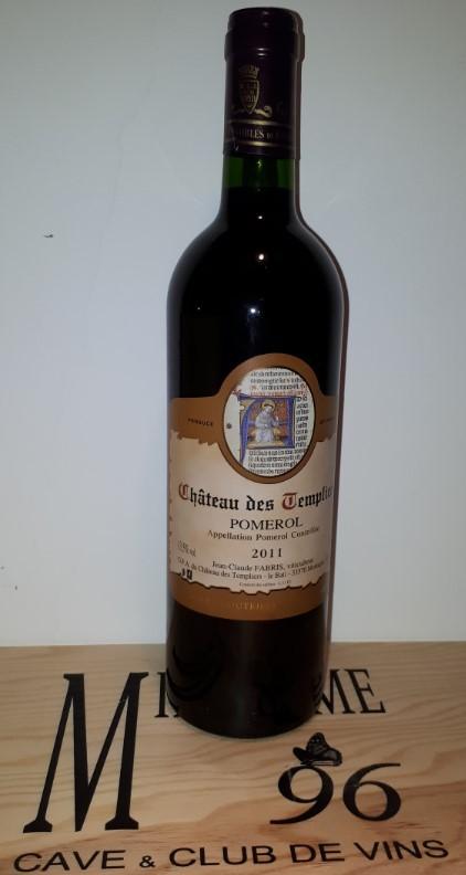 Vin Rouge Bordeaux A.O.C Pomerol Chateau des Templiers 2011 75 cl.