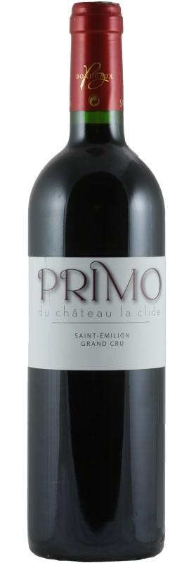 Vin Rouge Bordeaux A.O.C ST-Emilion Primo de Chateau La Clide 2008 75 cl.