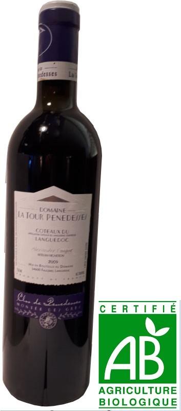 Vin Rouge Languedoc A.O.C Coteaux du Languedoc La Tour Penedesses Monteİe des Gres 2009 75 cl.