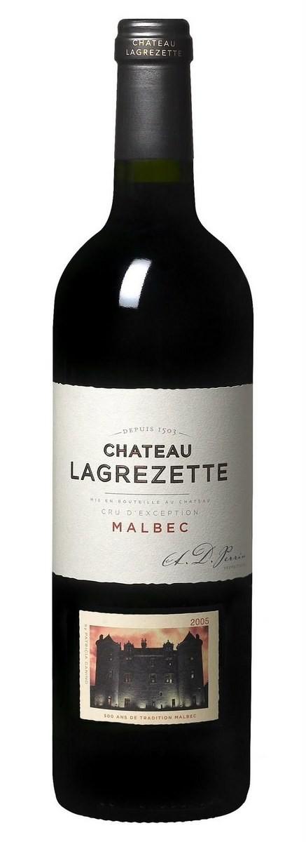 Vin Rouge Sud Ouest A.O.C Cahors Domaine de Lagrezette 2011 150 cl.