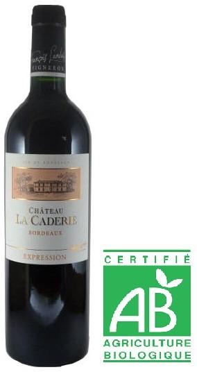 Vin Rouge A.O.P Bordeaux Chateau La Caderie Bio Expression 2018 75 cl