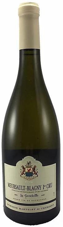 Vin Blanc Bourgogne A,O,C Meursault-Blagny 1er Cru Domaine Martelet La Genelotte 2015 75 cl