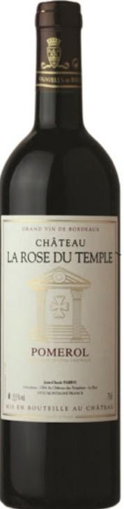 Vin Rouge Bordeaux A.O.C Pomerol Chateau la Rose du Temple 2015 75 cl.