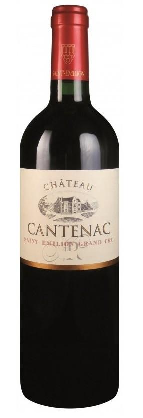 Vin Rouge Bordeaux A.O.C ST-Emilion Chateau Cantenac 2010 75 cl.