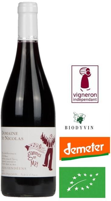 Vin Rouge Vendee A.O.P Fiefs Vendéens Domaine ST-Nicolas Gamme en may 2014 75 cl