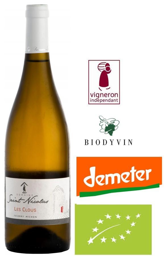 Vin Blanc Vendée A,O,P Fiefs Vendéens Domaine St-Nicolas Les Clous 2015 75 cl,