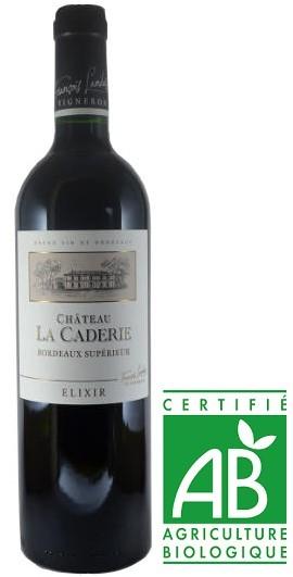 Vin Rouge Bordeaux A.O.P Bordeaux Superieur Bio Chateau La Caderie Elixir 2012 75 cl.