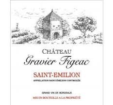 Vin Rouge Bordeaux A.O.C ST-Emilion Château Gravier Figeac Bio 2012 75 cl.