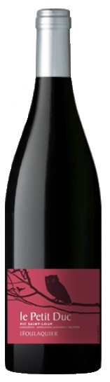 Vin Rouge Languedoc A.O.P Coteaux du Languedoc Pic st Loup Mas Foulaquier Le Petit Duc 2012 75 cl.