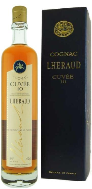 """Cognac 10 ans Cognac Lheraud """"Cuvée 10"""" 70 cl."""