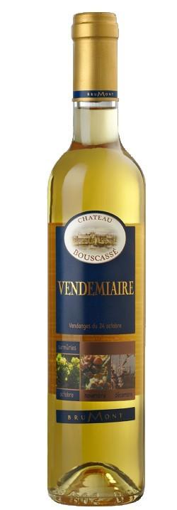 """Vin Doux Sud Ouest A.O.P Pacherenc du Vic-Bilh Château Bouscassé """"Vendemiaire"""" 2008 50 cl"""