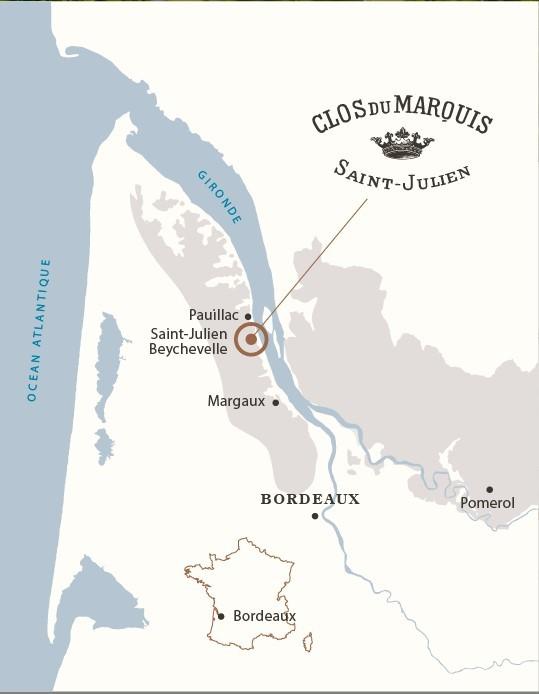 Vin Rouge Bordeaux A.O.C ST-Julien Chateau Branaire Ducru 2012 75 cl.