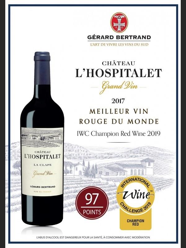 Vin Rouge Languedoc A.O.P Côteaux du Languedoc la Clape Château L'Hospitalet 2017 75 cl