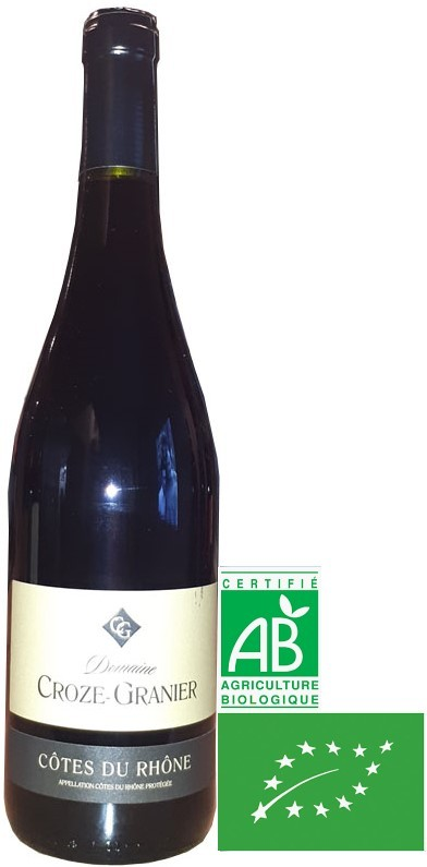 Vin Rouge Vallée Rhône A.O.P Côtes du Rhône Domaine Croze Granier Bio 2018 75 cl