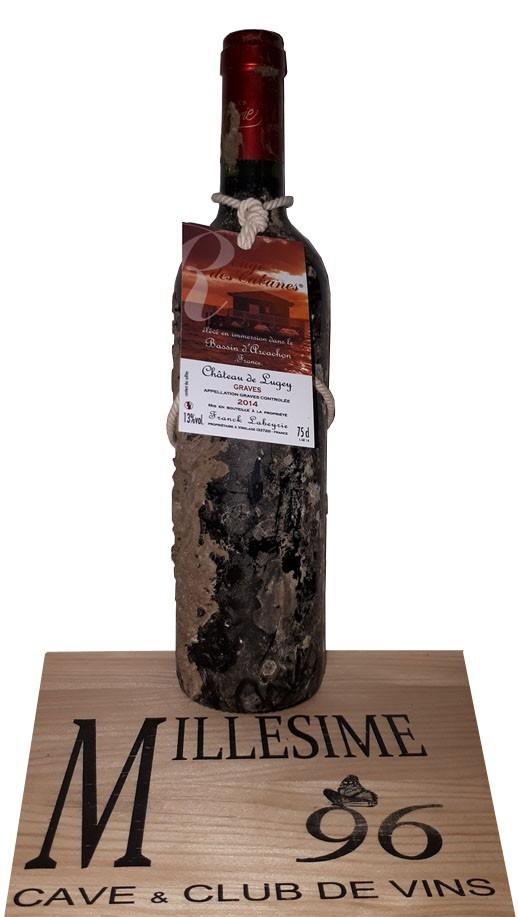 """Vin Rouge Bordeaux Graves Château de Lugey """"Rouge des Cabanes"""" 2014 75 cl."""