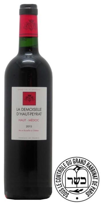 A.O.C Haut-Medoc La Demoiselle d'Haut-Peyrat 2015 75 cl Casher