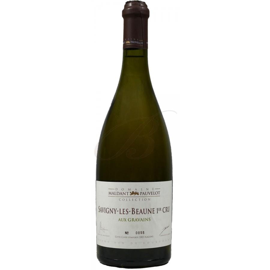 Vin Blanc Bourgogne A,O,C Savigny-Les-Beaune 1er Cru Domaine Maldant Les Gravains 2015 75 cl,