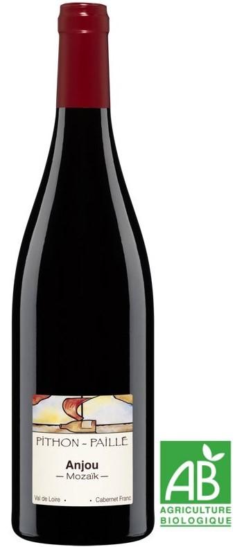 """Vin Rouge Loire A.O.C Anjou Domaine Pithon-Paillé """"Mozaïk"""" 2014 Bio 75 cl"""