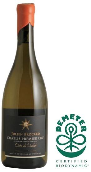 """Vin Blanc Bourgogne Bio A.O.C Chablis 1er Cru Julien Brocard Les 7 Lieux """"Côte de Léchet"""" 2018 75 cl"""