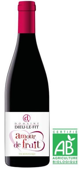 """Vin Rouge Vallée Rhône I.G.P Méditerranée La Foumente """"Amour de Fruit"""" 2019 75 cl"""