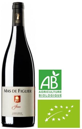 """Vin Rouge Languedoc A.O.P Côteaux du Languedoc Pic st Loup Mas de Figuier """"Jean"""" 2018 75 cl."""