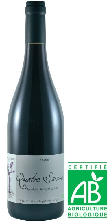 Vin Rouge Beaujolais A.O.C Beaujolais Bio Domaine Chasselay 4 saisons 2016 75 cl