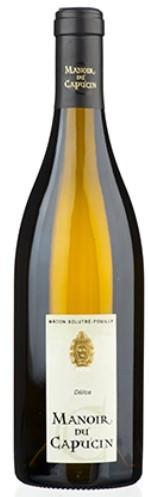 """Vin Blanc Bourgogne A.O.C Mâcon Solutré-Pouilly Manoir du Capucin """"Délice"""" 2018 75 cl"""