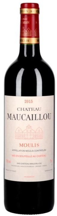 Vin Rouge Bordeaux A.O.C Moulis Chateau Maucaillou 2015 75 cl.