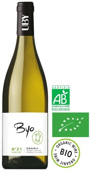 Vin Blanc Sud Ouest I.G.P Gascogne N°21 Blanc Sec BIO 75 cl