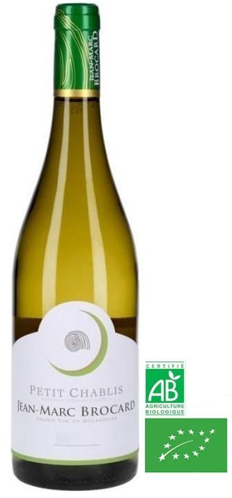 Vin Blanc Bourgogne A.O.C Petit Chablis Domaine J-M Brocard 2019 75 cl