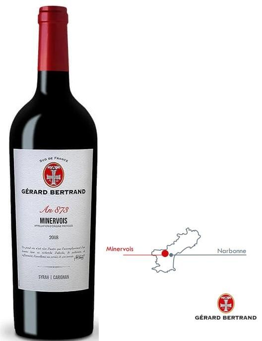 Vin Rouge Languedoc A.O.P Minervois Gérard Bertrand 2017 75 cl.