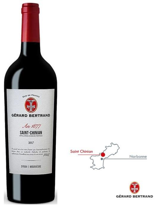 Vin Rouge Languedoc A.O.P St Chinian Gérard Bertrand St Chinian 2017 75 cl