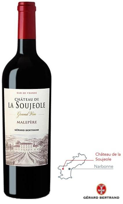 Vin Rouge Languedoc A.O.P Malepère Château La Soujeole 2017 75 cl
