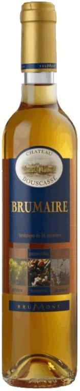 """Vin Doux Sud Ouest A.O.P Pacherenc du Vic-Bilh Château Bouscassé """"Brumaire"""" 2009 50 cl"""